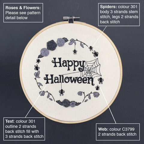 How to make a halloween embroidery hoop