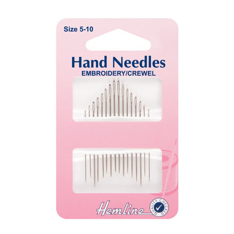 a packet of hand embroidery needles