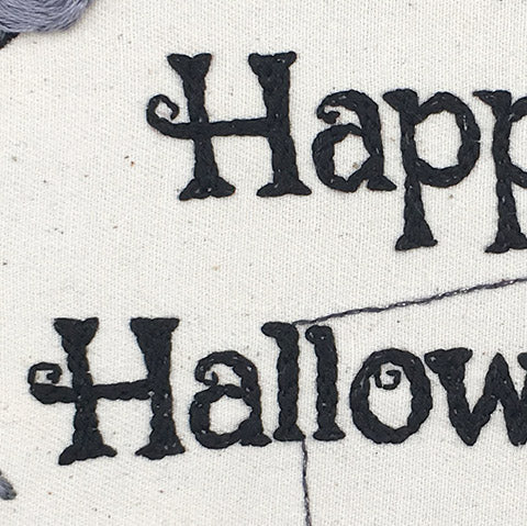 Close up of halloween text