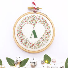 Load image into Gallery viewer, Alphabet Christmas Decoration: Modern Embroidery Kit