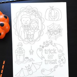 Halloween embroidery pattern