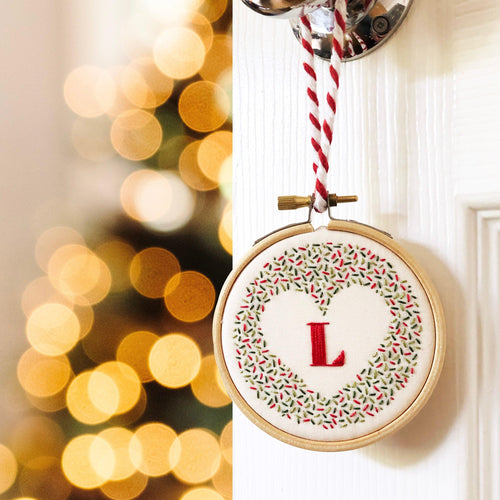 Alphabet Christmas Decoration: Modern Embroidery Kit