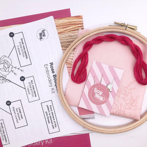 Rose Bouquet: Modern Floral Embroidery Kit