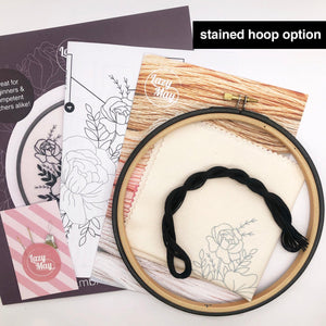 Black Rose Bouquet: Modern Floral Embroidery Kit