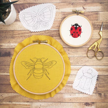 Load image into Gallery viewer, Bugs and Butterflies: Iron-On Embroidery Transfer Patterns