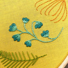Load image into Gallery viewer, Leaf Wreath: Modern Floral Embroidery Kit