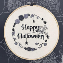 Load image into Gallery viewer, Hand Embroidered Halloween Hoop