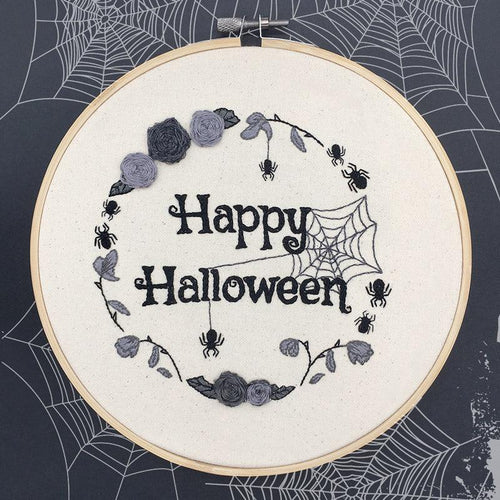 Hand Embroidered Halloween Hoop