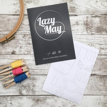 Load image into Gallery viewer, Lazy May Embroidery Beside the seaside transfer pattern pack, comes with full instructions and a beginners embroidery guide