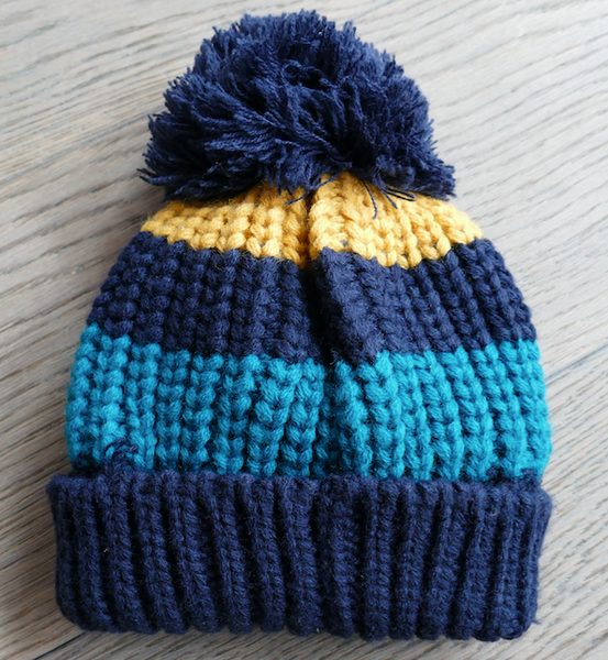 Striped Bobble Hat Navy | 1-3 Years - House of Tando