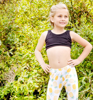 LITTLE YOGI PINEAPPLE PARTY LEGGINGS
