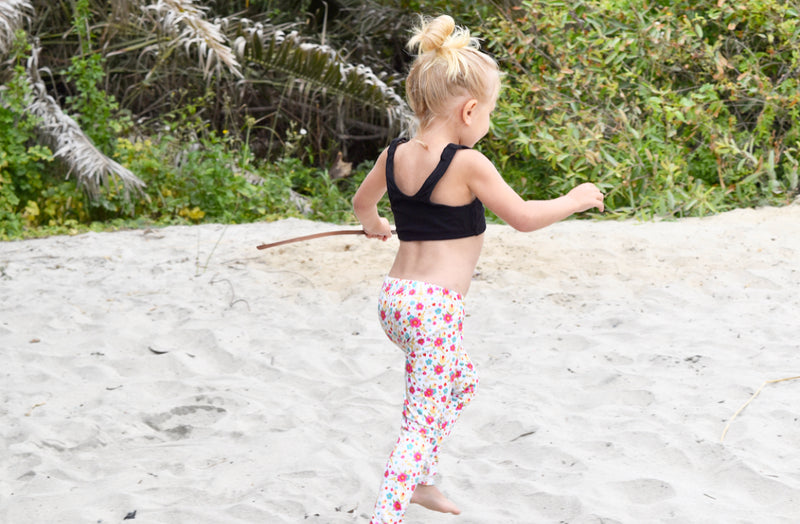 LITTLE YOGI FLORAL LEGGINGS