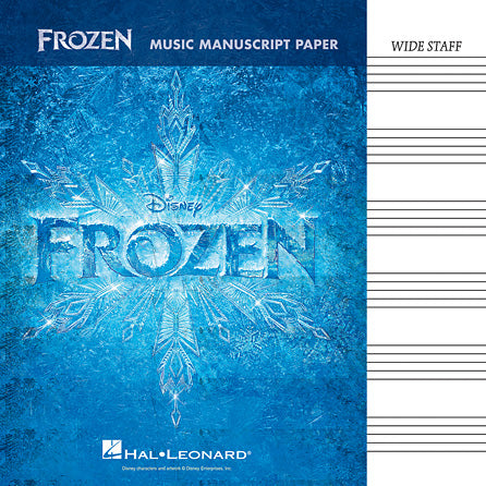 Music Manuscript Book with Wide Staves - Frozen