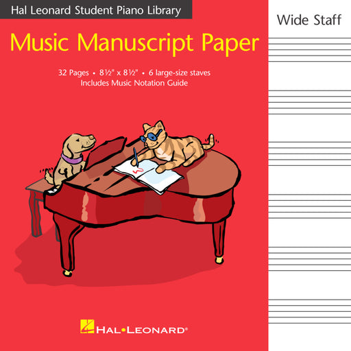 Music Manuscript Book with Wide Staves for Children