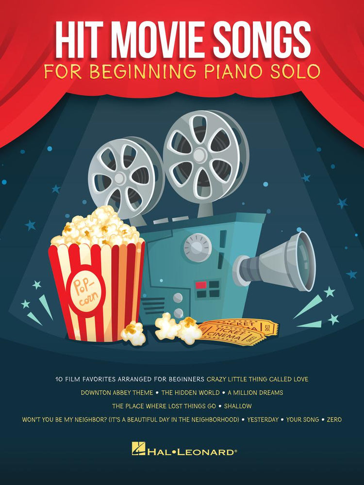 Hit Movie Songs Beginning Piano Solo Songbook