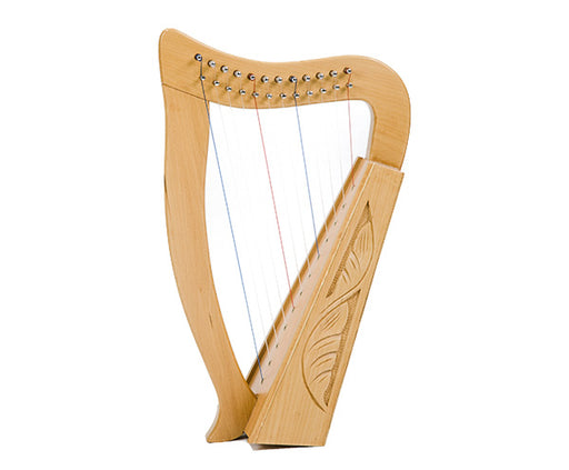 Baby Harp 12 String Carved Beechwood with Bag