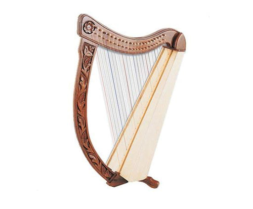 Troubadour Harp 22 String Carved Frame with Bag