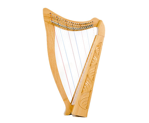Heather Harp 22 String Carved Beechwood with Bag