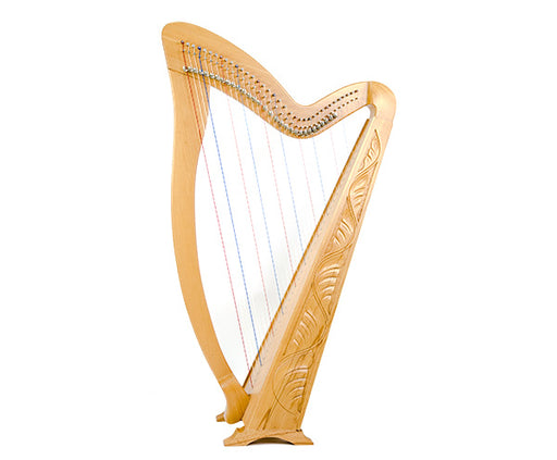 Meghan Harp 36-String Carved w/ bag