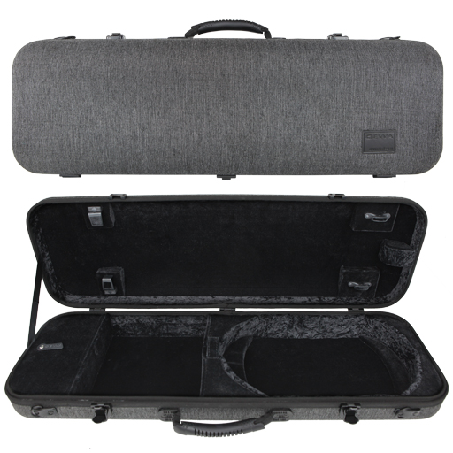 GEWA Bio-S Oblong Violin Case Grey Black