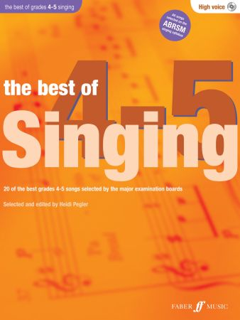 Best of Singing Grades 4-5 High Voice Book / CD
