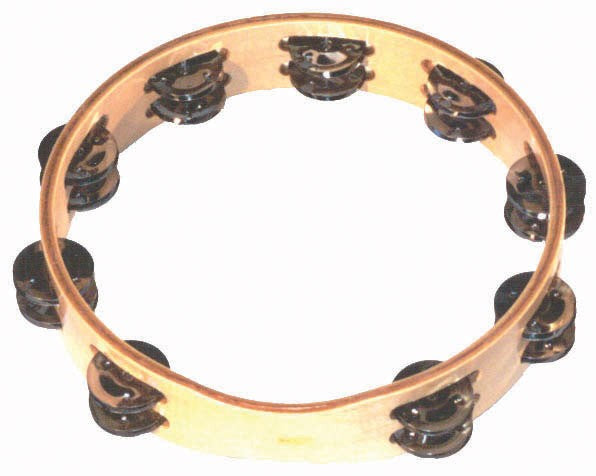 10 Inch Headless Tambourine with 18 Pairs of Jingles by