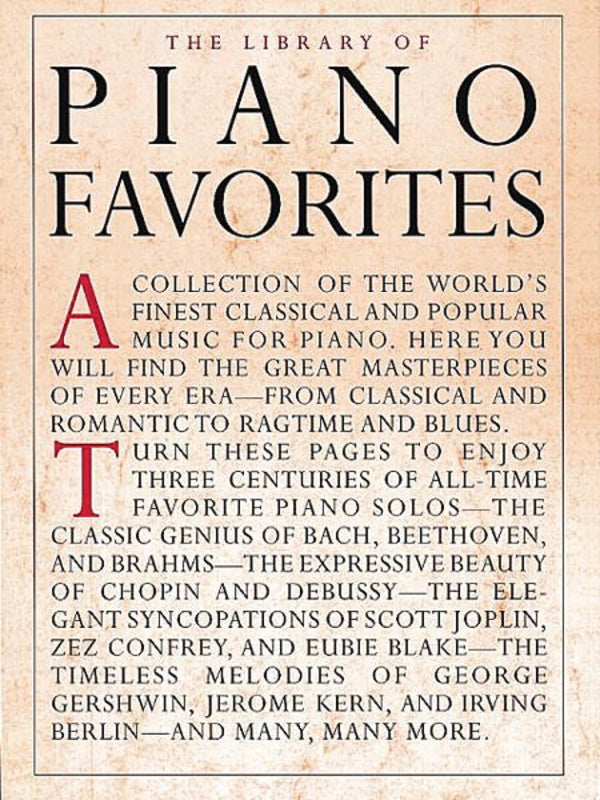 The Library of Piano Favourites - Piano Solo