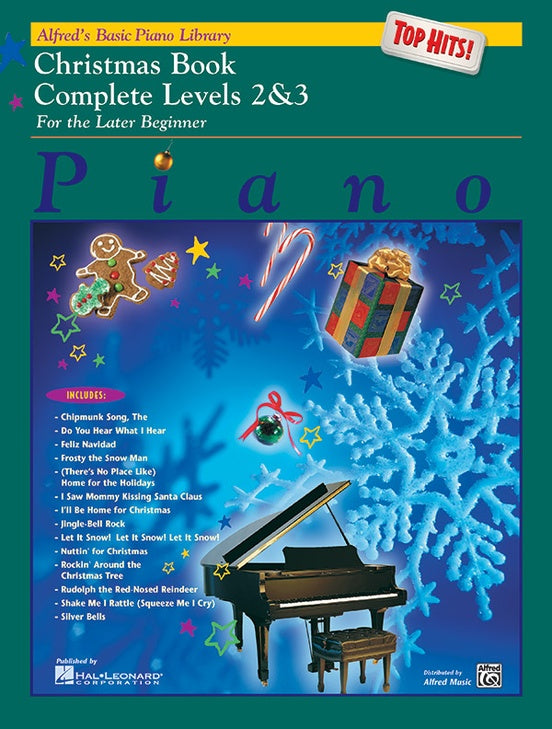 Alfred's Basic Piano Library Top Hits! Christmas Complete Book 2 & 3