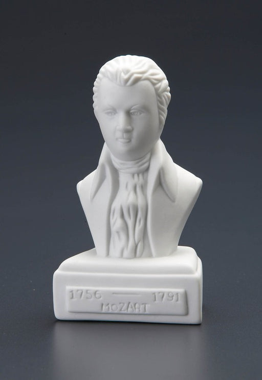 Wolfgang Amadeus Mozart Statuette White Porcelain