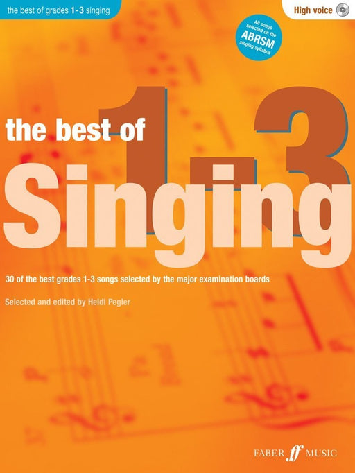 Best of Singing Grades 1-3 High Voice Book / CD Heidi Pegler