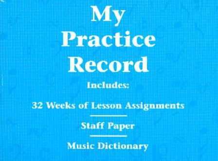 My Practice Record Book : 32 Weeks Lesson Assignments