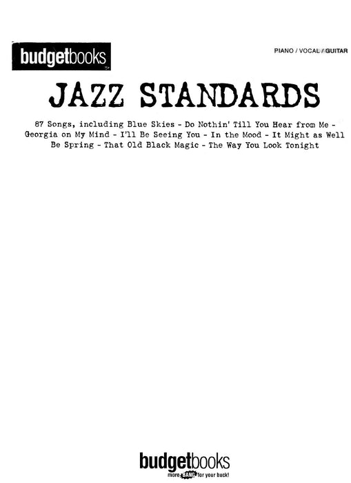 Budget Books - Jazz Standards