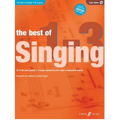 Best of Singing Grades 1-3 Low Voice Book / CD Heidi Pegler