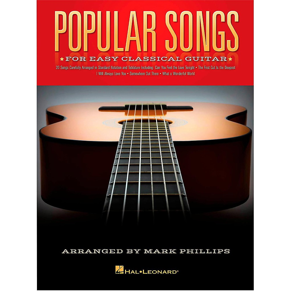 Popular Songs for Easy Classical Guitar