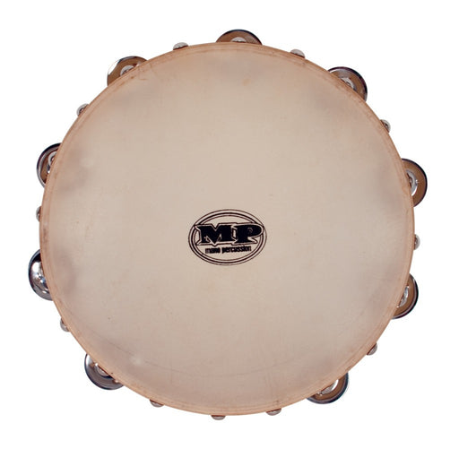 Mano Percussion 10 Inch Wood Tambourine Calf Skin Head