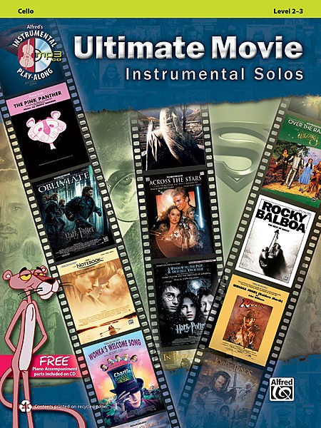 Ultimate Movie Instrumental Solos for Cello with CD