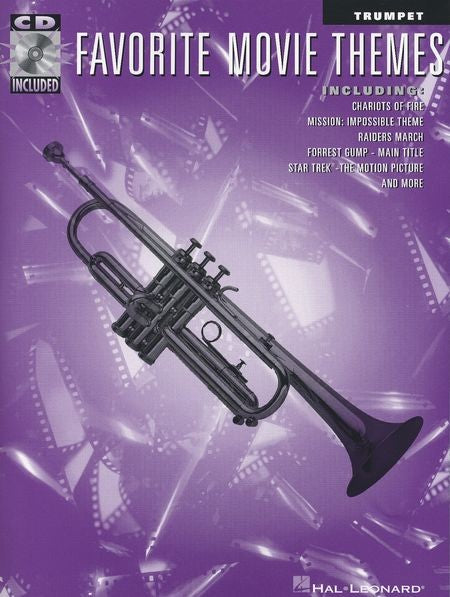 Favourite Movie Themes for Trumpet Book/CD by