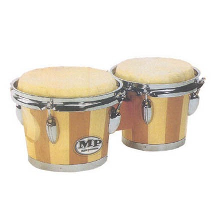 Wooden Bongos by Mano Two Tone Effect by