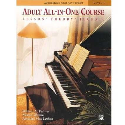 Alfred Adult All in One Lesson, Theory and Technic Book/CD by Alfred