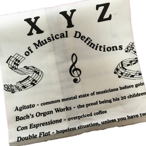 XYZ Definitions Tea Towel