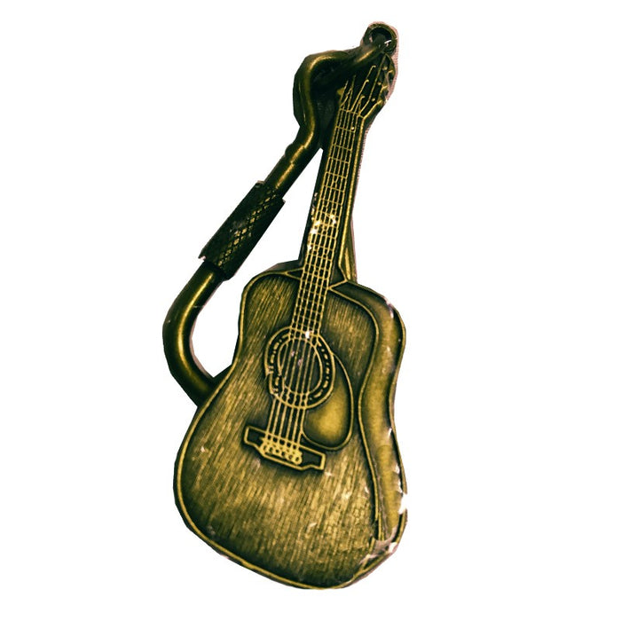 Keyring with Acoustic Guitar