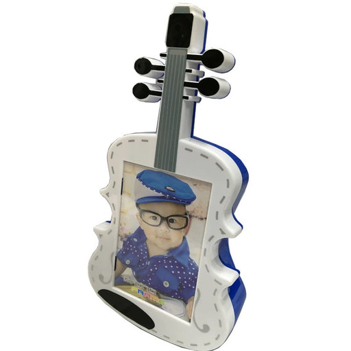 Violin Shaped Photo Frame Coin Box