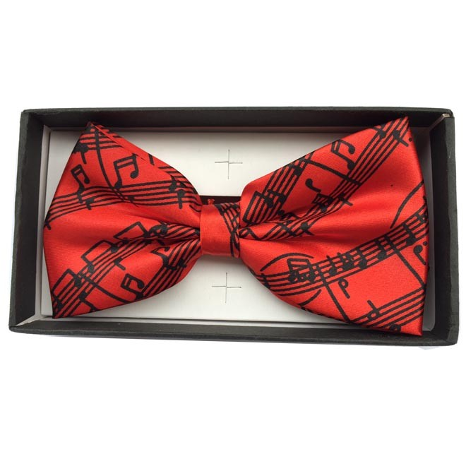 Bow Tie Sheet Music Red