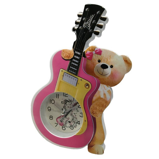 Guitarist Bear Alarm Clock for Kids