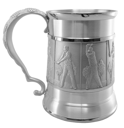 Golf Swing Carved Beer Mug