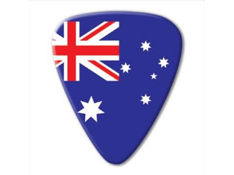5 Guitar Picks with Australian Flag by