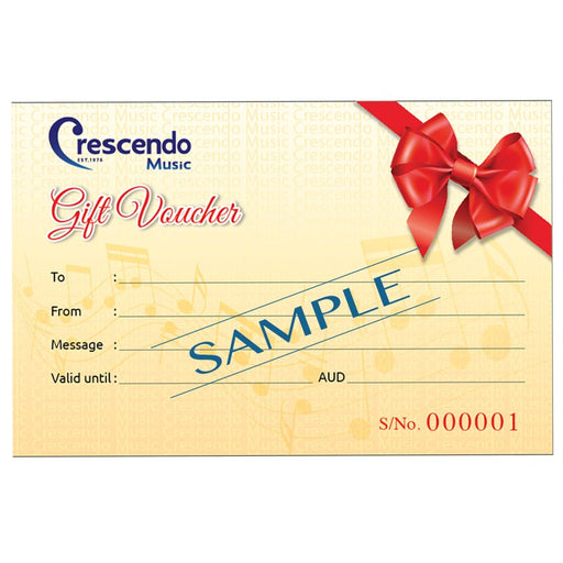 Crescendo Music Gift Voucher 2017