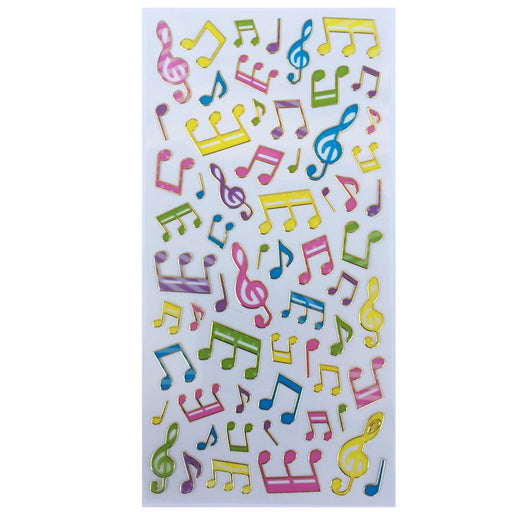 Colourful Music Stickers - Music Notes
