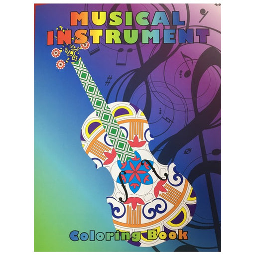 Musical Instrument Colouring Book