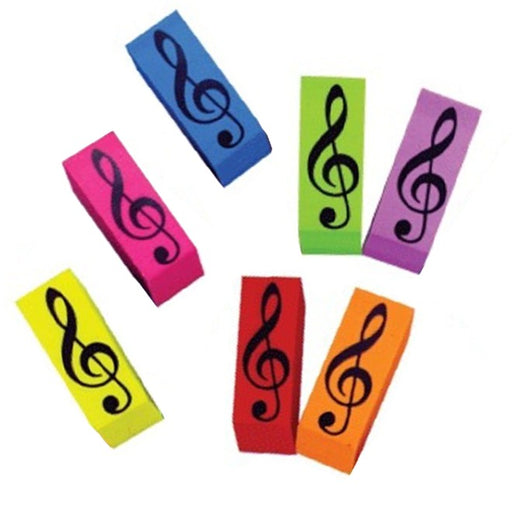 Eraser with Treble Clef Wedge Shape